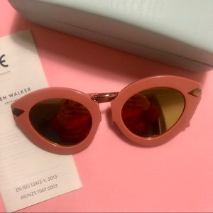 Karen Walker CatEye Sunglasses - Pink